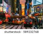 new york city  usa   august 14  ... | Shutterstock . vector #589232768
