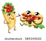 emoticon burrito funny elements ... | Shutterstock .eps vector #589245020