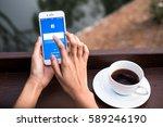 bangkok. thailand. february... | Shutterstock . vector #589246190