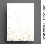 gold glitter background polka... | Shutterstock .eps vector #589247804