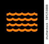 wave icon. vector. orange icon... | Shutterstock .eps vector #589253888