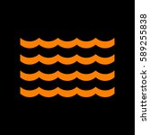 wave icon. vector. orange icon... | Shutterstock .eps vector #589255838
