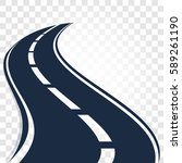 isolated black color road or...   Shutterstock .eps vector #589261190