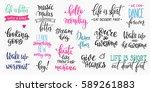 lettering photography overlay... | Shutterstock .eps vector #589261883