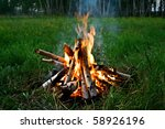 wooden camp fire | Shutterstock . vector #58926196