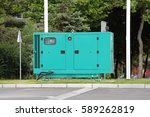 diesel generator for emergency... | Shutterstock . vector #589262819