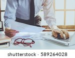 businessman analyzing... | Shutterstock . vector #589264028