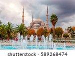 the blue mosque   sultanahmet...   Shutterstock . vector #589268474