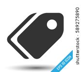 price tag icon. simple flat... | Shutterstock .eps vector #589275890