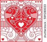 a fancy poker symbol in vector... | Shutterstock .eps vector #589280033