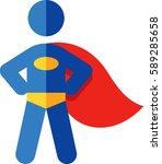 superhero icon | Shutterstock .eps vector #589285658