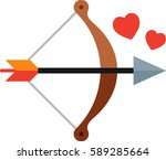 cupid's bow icon | Shutterstock .eps vector #589285664
