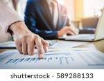 team work process. young... | Shutterstock . vector #589288133