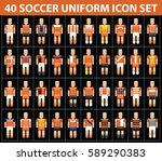 40 soccer football orange...   Shutterstock .eps vector #589290383