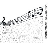 vector music  background ... | Shutterstock .eps vector #589300754