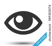 eye icon. simple flat logo of... | Shutterstock .eps vector #589303076