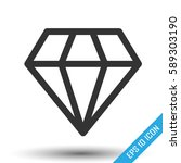 diamond icon. simple flat logo...