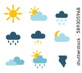 set of climate forecast weather ...   Shutterstock .eps vector #589305968