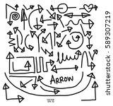 arrow hand drawn set. | Shutterstock .eps vector #589307219
