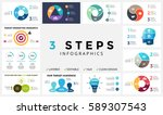 Stock vector vector circle arrows infographic cycle diagram graph presentation chart business concept with 589307543