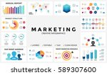 marketing infographic  cycle... | Shutterstock .eps vector #589307600