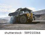 transport caking coal 120 tons... | Shutterstock . vector #589310366