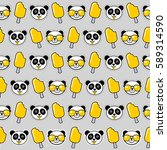 funky seamless pattern with... | Shutterstock .eps vector #589314590