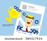illustration vector of young... | Shutterstock .eps vector #589317914