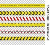 police line and do not cross ... | Shutterstock .eps vector #589318928