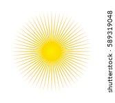 sun. sun rays icon. vector... | Shutterstock .eps vector #589319048