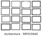 set of frame doodle isolated on ... | Shutterstock . vector #589319660