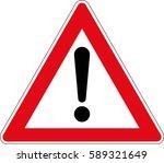vector road sign of danger.... | Shutterstock .eps vector #589321649