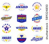 colorful award labels  logo and ...   Shutterstock .eps vector #589324850