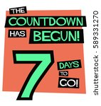 the countdown has begun seven... | Shutterstock .eps vector #589331270