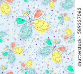 vector seamless pattern with...   Shutterstock .eps vector #589337063