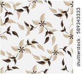 vector seamless pattern flowers ...   Shutterstock .eps vector #589343333