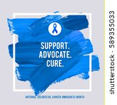colorectal cancer awareness... | Shutterstock .eps vector #589355033