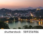 world heritage kandy city at... | Shutterstock . vector #589356986