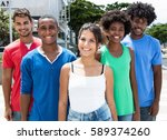 small group of african american ... | Shutterstock . vector #589374260