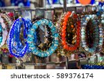 colorful beads of various color | Shutterstock . vector #589376174