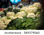 group of cauliflower  fresh... | Shutterstock . vector #589379060