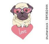 bulldog  vector   illustration   Shutterstock .eps vector #589382444