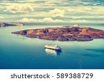 beautiful landscape with sea... | Shutterstock . vector #589388729