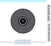 vinyl record vector icon. | Shutterstock .eps vector #589389008