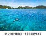 snorkeling at koh rok  andaman...   Shutterstock . vector #589389668