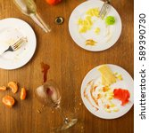 messy table after party....   Shutterstock . vector #589390730