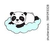 doodle vector bear | Shutterstock .eps vector #589393328