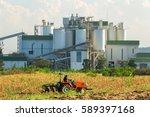 ethanol industrial refinery...   Shutterstock . vector #589397168