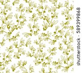 decorative seamless floral... | Shutterstock .eps vector #589399868