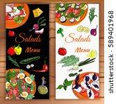 vertical vegetable banner with...   Shutterstock .eps vector #589401968
